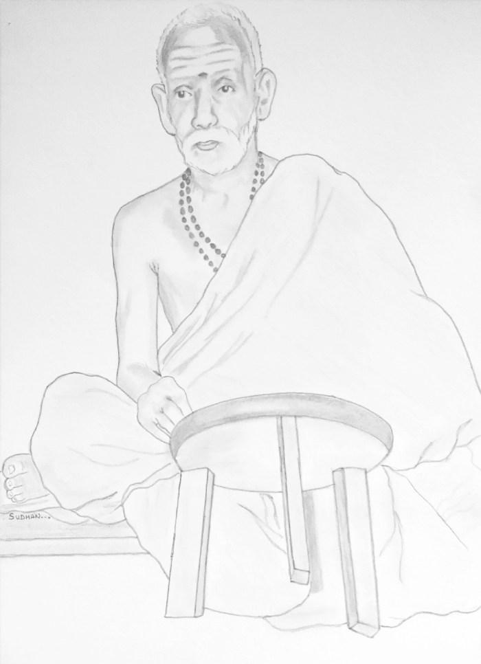 Periyava-sitting-drawing