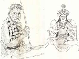 Periyava_lemon_garland_drawing_sudhan