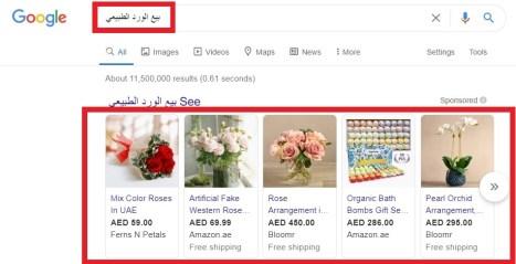 شكل اعلان جوجل للتسوق google shopping ads