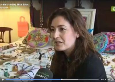 Elisa Salas en Televisión Canaria