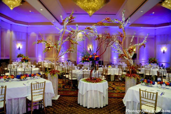 Romantic Indian Wedding Reception By Soham Photography