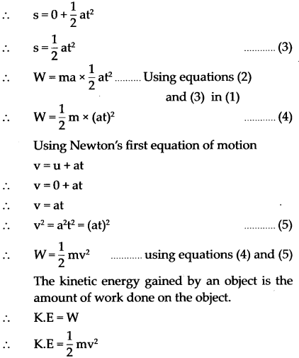 Maharashtra Board Class 9 Science Solutions Chapter 2 Work and Energy 1