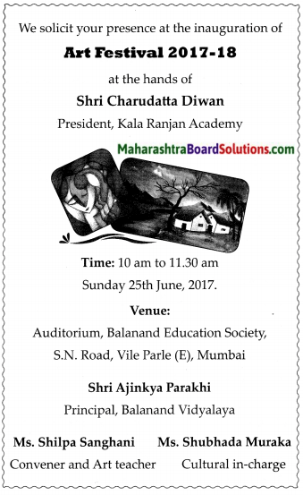 Maharashtra Board Class 7 English Solutions Chapter 3.2 Compere a Programme 2