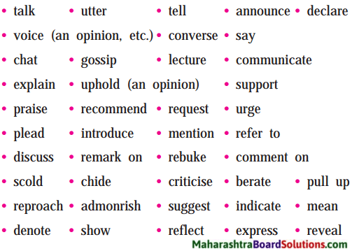 Maharashtra Board Class 9 My English Coursebook Solutions Chapter 3.4 Think Before You Speak! 1