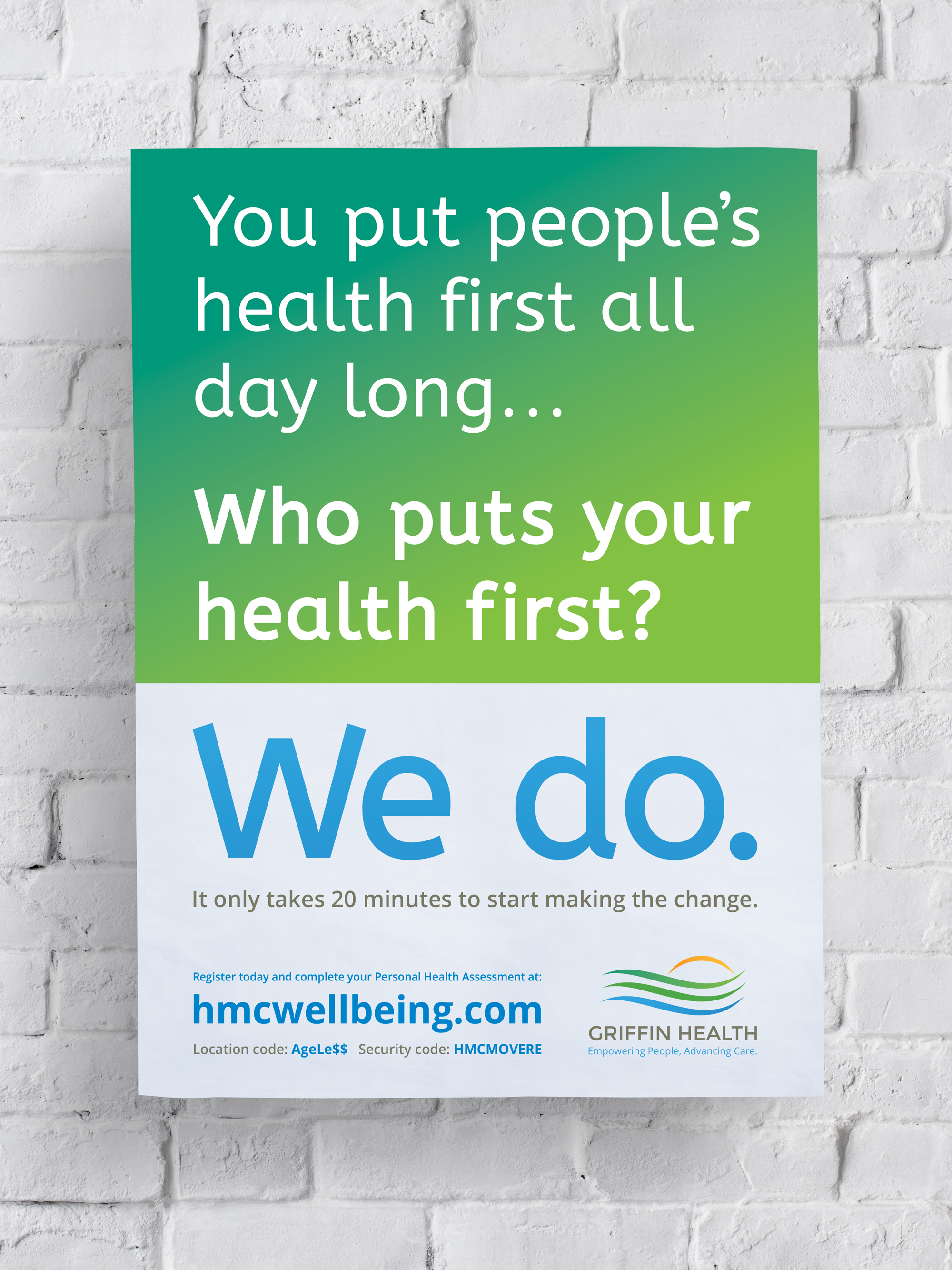 Employee Wellness Campaign Poster
