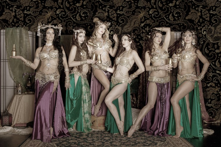The elegant Mahari Belly Dancers in costume