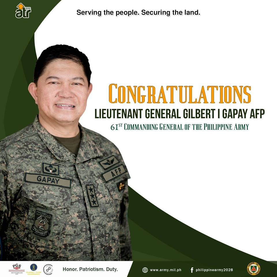 Gapay appointed as next AFP chief