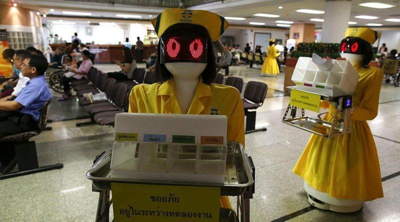Shortage of nurses in Thailand forces hospital to hire robot nurses