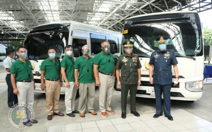 AFP gets 4 new Coaster minibuses from AFPMBAI
