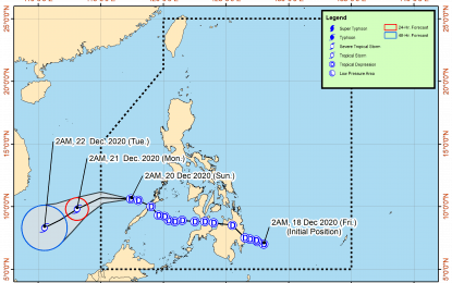 TD 'Vicky' moves towards Kalayaan Islands on its way out of PAR