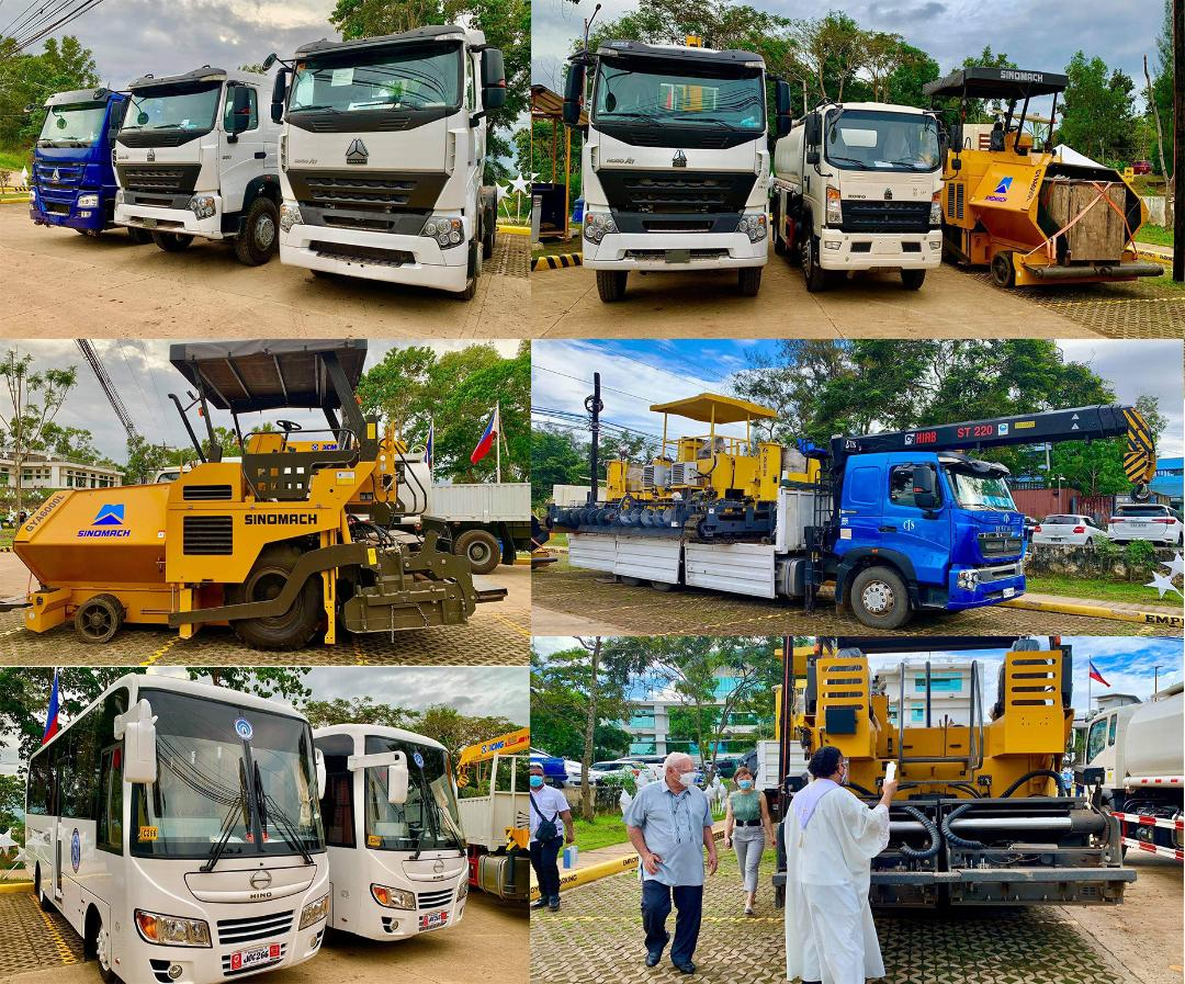 Puerto Princesa's newly purchased heavy equipment ready for operation