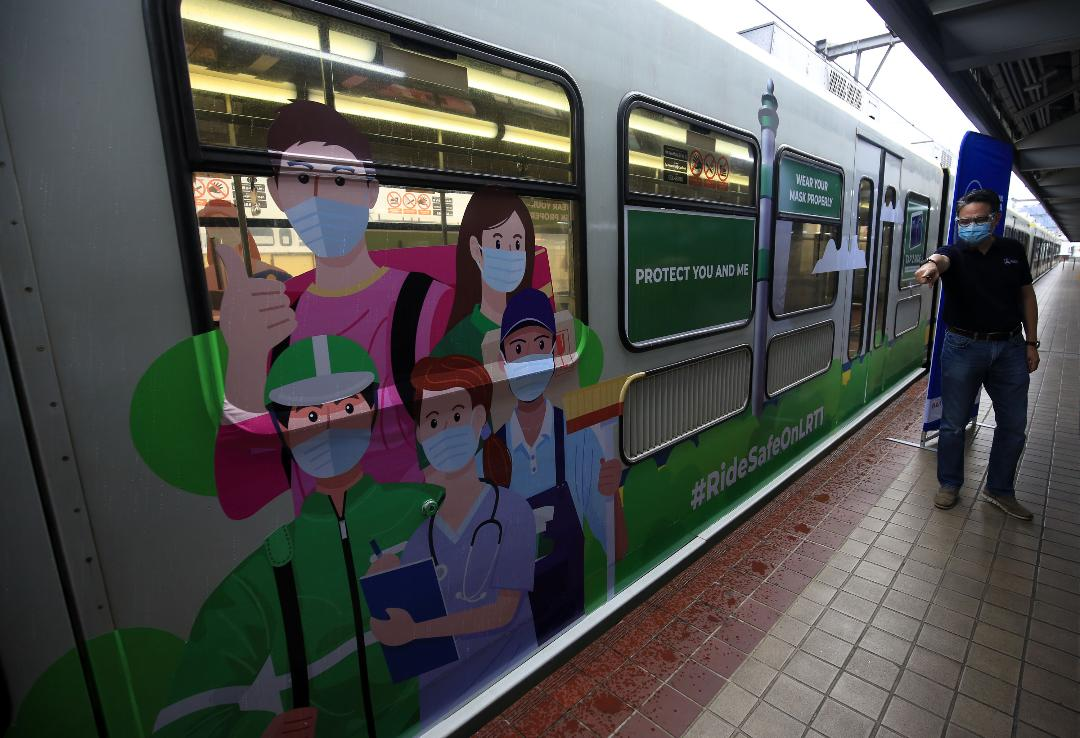 LRT launches 'ChristMask Train' to remind commuters to follow health protocols during the Yuletide Season