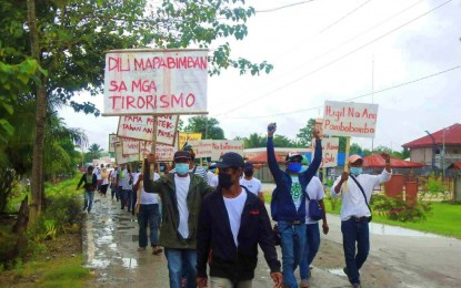 Maguindanao town residents stand vs. BIFF in peace rally