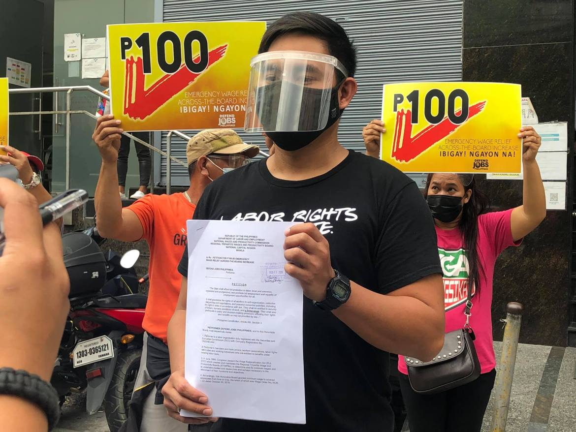 P100 across-the-board wage hike petition inihain ng Defend Jobs PH
