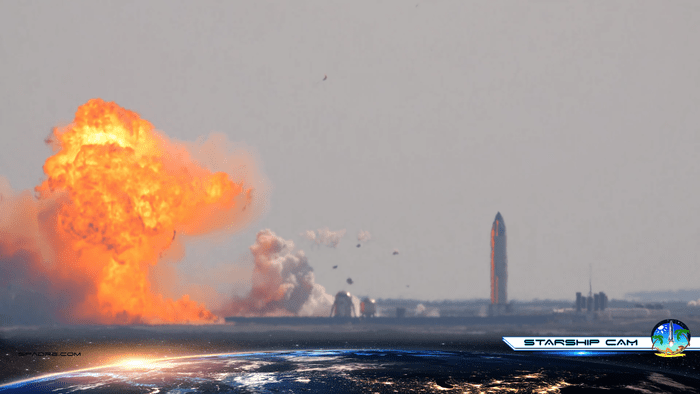 SpaceX's Starship SN10 EXPLODES on the launch pad just minutes after being named the firm's first prototype to take flight and make a soft landing