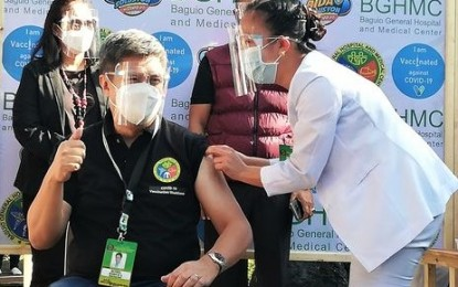 1.1K Cordillera hospital workers vaccinated in 3 days