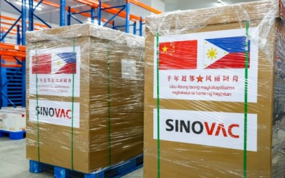 400K more Sinovac doses due to arrive this week