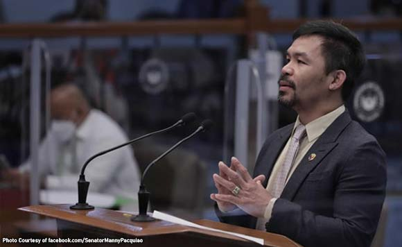 SEN. MANNY PACQUIAO's POSITION ON WPS ISSUE