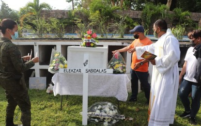 Exhumed remains of NPA leader in Leyte get decent burial