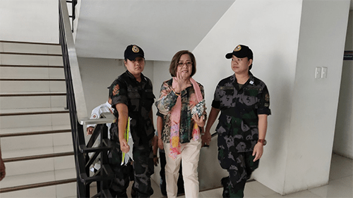 De Lima to Duterte: Running for VP won't help you escape accountability for crimes vs humanity