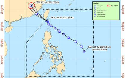 'Emong' likely to exit PAR Tuesday afternoon