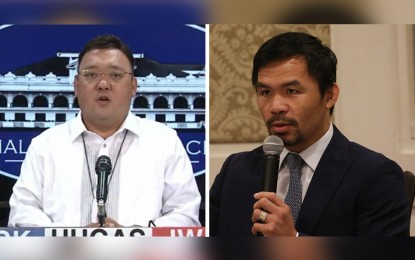 Let Pacquiao do what he wants to prove corruption claim: Palace