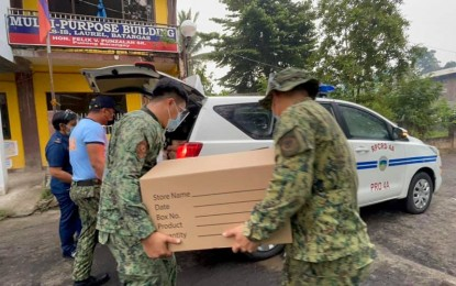 Police help desks activated for Batangas evacuees