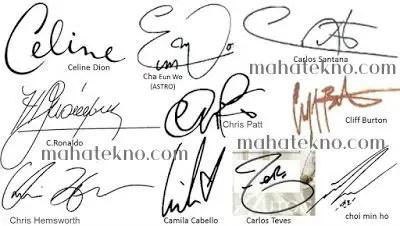 tanda tangan huruf c