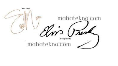 tanda tangan huruf e