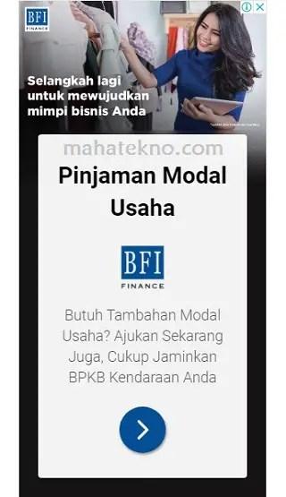 iklan pinjaman modal usaha