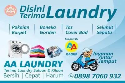 iklan laundry baju menarik