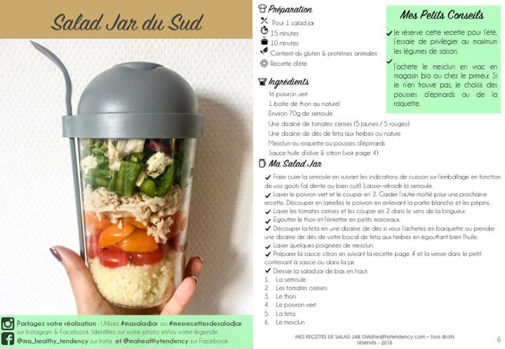 eBook Mes Recettes de Salad Jar - Ma Healthy Tendency