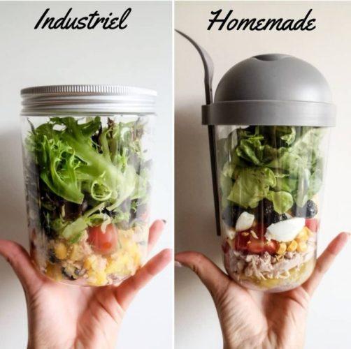 Salad Jar by Fleury Michon VS Salad Jar Maison Ma Healthy Tendency