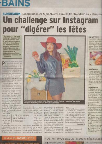 Article Le Dauphiné Libéré - Manon Baffi