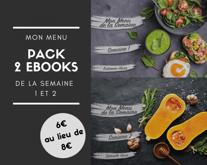 Ebook Mon Menu de la Semaine - Pack 2 ebooks - Mahealthytendency