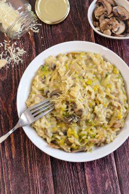 risotto aux poireaux parmesan champignons mahealthytendency