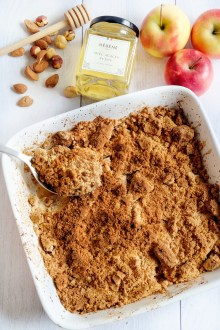 crumble de pommes mahealthytendency