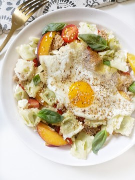 Inspiration Lunch Salade de ravioles & nectarine Mahealthytendency