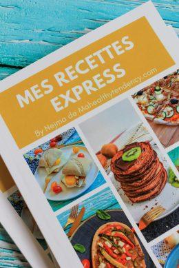 livre mes recettes express detail