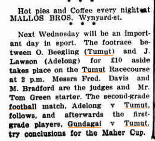 Adelong & Tumut Express Froday 9 July 1920