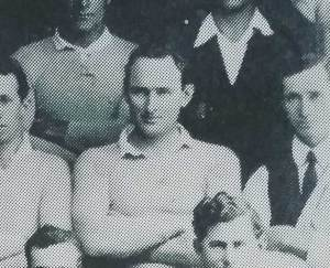 Ted Maher in a Tumut Rugby League team of 1921.