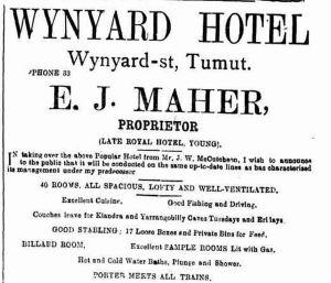 Wynyard Hotel add