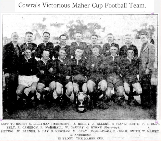 Cowra Team of 1937. Source: Grenfell Record 9 September 1937