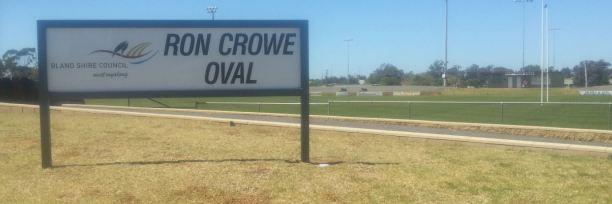 Ron Crow Oval, West Wyalong
