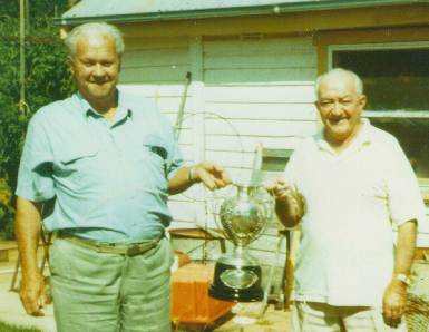 Wal and mate Tom Spencer with the Maher Cup