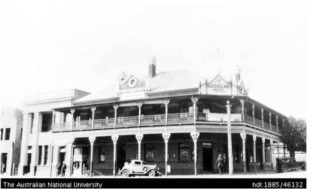Queensland Hotel. Source: https://digitalcollections.anu.edu.au/handle/1885/46132