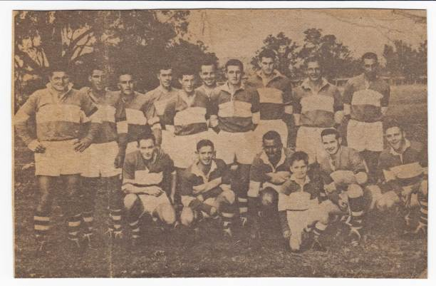 The team that won the Maher Cup from Gundagai in 1963: Standing from left - Rex Jones, Billy Woods, Les Winters, Chris Costelloe, Bob Whybrow, Tom Spain, Jim Moon, Noel McDermott, Toby Schofield, Alan Paterson: Kneeling - John Claridge, Ken Bell, John Gill (captian-coach), Barry Crick.