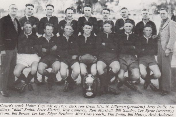 Cowra's Maher Cup team of 1937