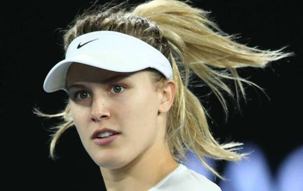 Eugenie Bouchard meets 'Super Bowl Twitter date' for Nets game