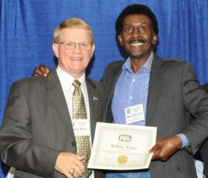 Mark Wade & Tom Crowl present Willie Tyler With His IVS Membership Certificate